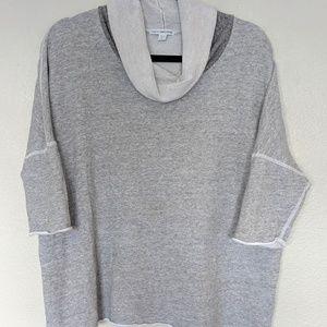 James Perse roll neck short sleeve sweatshirt top